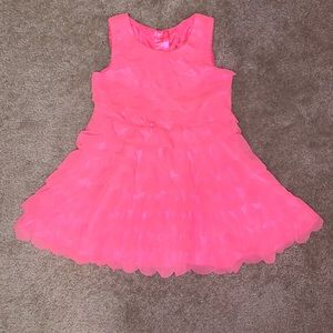 Toddler girls hot pink ruffle dress